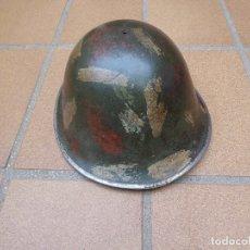 Militaria: OLLA CASCO MARK MK-IV DEL EJÉRCITO BRITÁNICO. BRITISH MILITARY ARMY TURTLE SHELL HELMET CAMO HAND. Lote 172372420