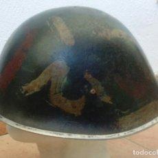 Militaria: OLLA DE CASCO MK-IVBRITÁNICO, MARK IV, CASCO TORTUGA, TURTLE. CAMUFLAJE ARTESANAL EJÉRCITO INDIO. Lote 172413344
