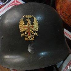 Militaria: CASCO ESPAÑOL TRUBIA O AZAÑA COMPLETO CON SU INTERIOR ORIGINAL Y MUY BUEN ESTADO. Lote 173956679