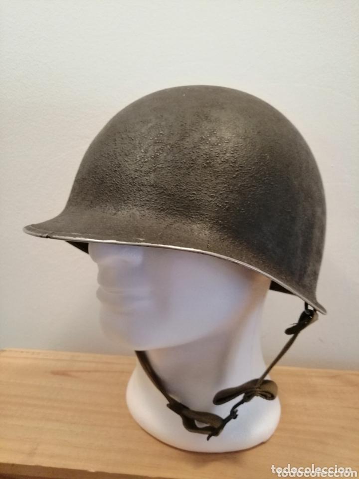 CASCO AMERICANO US MODELO M1 ORIGINAL WWII PATAS FIJAS (Militar - Cascos Militares )