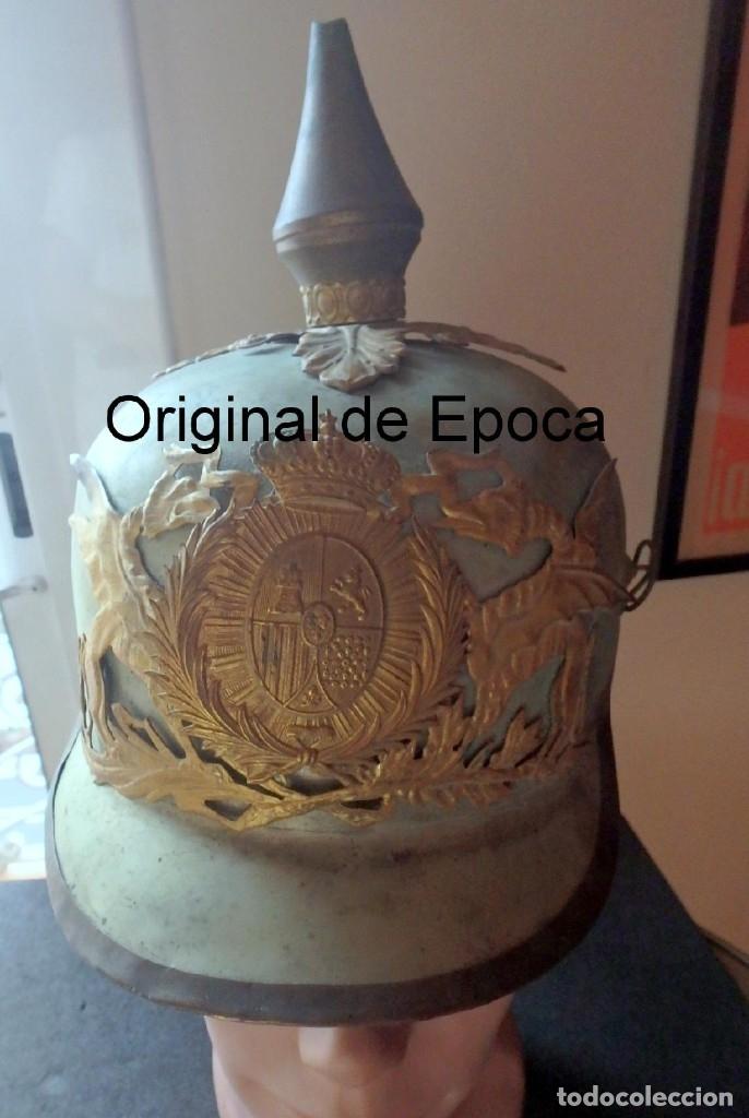 (JX-191025)CASCO METÁLICO DE GALA DE CABALLERÍA DEL CUERPO DE GUARDIA URBANA DE BARCELONA. (Militar - Cascos Militares )