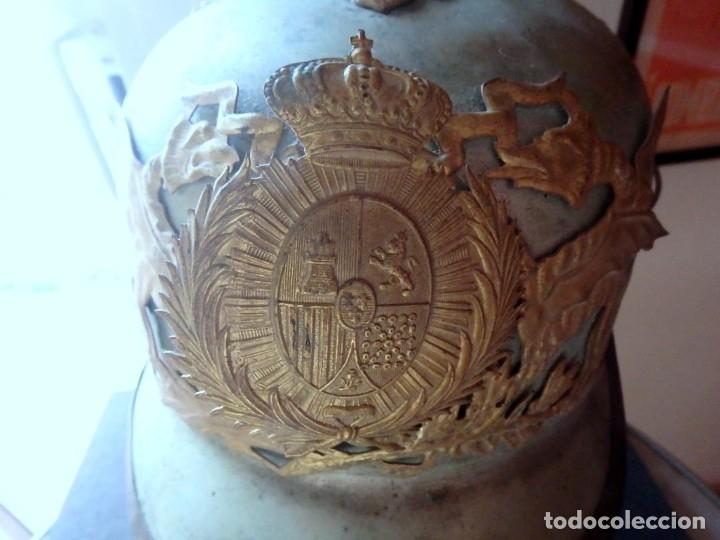 Militaria: (JX-191025)Casco metálico de Gala de Caballería del Cuerpo de Guardia Urbana de Barcelona. - Foto 2 - 177883350