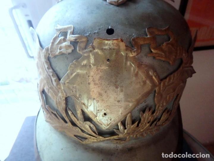 Militaria: (JX-191025)Casco metálico de Gala de Caballería del Cuerpo de Guardia Urbana de Barcelona. - Foto 3 - 177883350