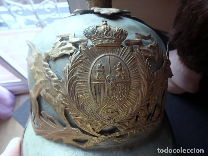 Militaria: (JX-191025)Casco metálico de Gala de Caballería del Cuerpo de Guardia Urbana de Barcelona. - Foto 12 - 177883350