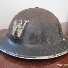 Militaria: ANTIGUO CASCO MILITAR EJERCITO BRITÁNICO INGLÉS II SEGUNDA GUERRA MUNDIAL MODELO HELMET STEEL MKII. Lote 178296043