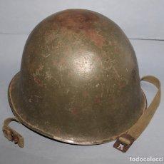 Militaria: CASCO FRANCÉS MOD 1951 OTAN- 1º MODELO ANILLAS BARBOQUEJO SOLDADAS - TIPO AMERICANO . Lote 178343610