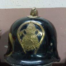 Militaria: ANTIGUO CASCO DE LOS BOMBEROS DE ZARAGOZA. AFLOJ@UNEURO. Lote 178854375