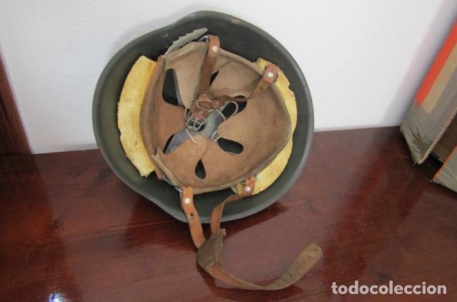 Militaria: Curioso antiguo casco uso militar de acero del ejercito alemán de la Alemania oriental comunista DDR - Foto 3 - 179088700