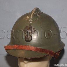 Militaria: CASCO FRANCÉS MODELO 1926 - CON ESCUDO IGM DE INFANTERÍA, CABALLERÍA, LEGIÓN EXTRANJERA Y OTROS. Lote 180193992