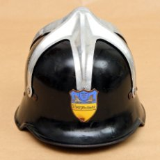 Militaria: CASCO DE ACERO DE BOMBERO DE AUSTRIA - ST. GEORGEN A. STEINFELD - 1946/60. Lote 180855801
