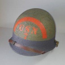 Militaria: CASCO US M1 ORIGINAL RESTAURADO. 7TH BEACH BATALLION. Lote 183778557