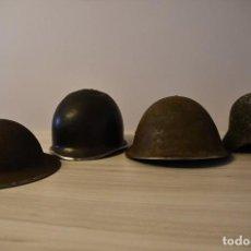 Militaria: DIA D - COLECCIÓN 4 CASCOS ORIGINALES WW2 ENCONTRADOS REGIÓN DE NORMANDÍA. Lote 184244952