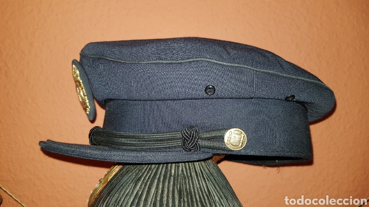 Militaria: ANTIGUA GORRA DE PLATO CUERPO NACIONAL DE POLICÍA CON RARO DISTINTIVO - Foto 8 - 184486622