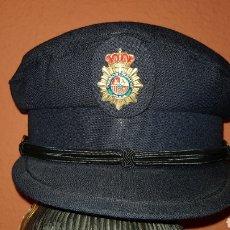 Militaria: ANTIGUA GORRA DE PLATO CUERPO NACIONAL DE POLICÍA CON RARO DISTINTIVO. Lote 184486622
