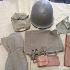 Militaria: CASCO ORIGINAL DE COMBATE FRANCES Y EQUIPAMIENTO DE LA GUERRA DE ARGELIA. Lote 189077405