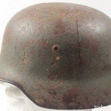 Militaria: CASCO MOD. 35, HEER, DOBLE CALCA, DAÑADO - EXCAVACIÓN, ORIGINAL ALEMÁN 2 GM. Lote 191386858