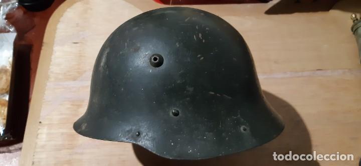 Militaria: Casco búlgaro modelo Alemania nazi 1940 Modelo M1936 C - Foto 6 - 191894492