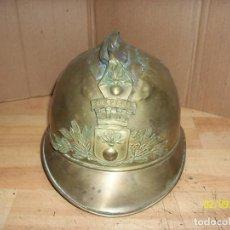Militaria: CASCO DE BOMBERO FRANCES- 1º GUERRA MUNDIAL-DE BRONCE. Lote 193394466