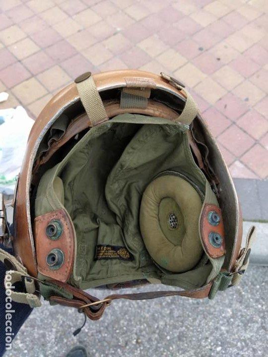 Militaria: Casco y gorro de piloto de caza de combate americano. guerra de Corea - Foto 2 - 194264372
