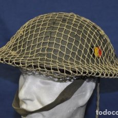 Militaria: BÉLGICA. CASCO MK-II BELGA. MODELO 1949. CON RED DE CAMUFLAJE. MARCADO ABL ARMÉE BELGE. Lote 194388886