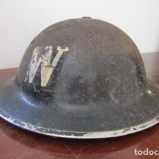 Militaria: ANTIGUO CASCO MILITAR EJERCITO BRITÁNICO INGLÉS II SEGUNDA GUERRA MUNDIAL MODELO HELMET STEEL MKII. Lote 195031006