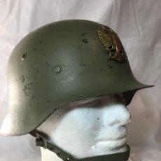 Militaria: ESPAÑA, CASCO Mº Z 42 - 79, FABRICACIÓN TRUBIA, PINTURA CAQUI MATE. ET.. Lote 196520271
