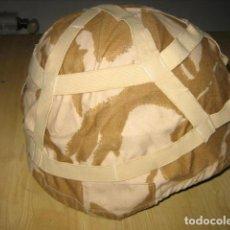 Militaria: FUNDA DE TELA PARA CASCO, CAMO DESERT ORIGINAL.. Lote 198174043