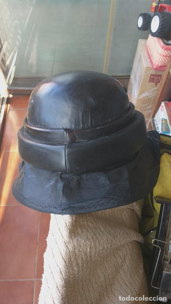 Militaria: CASCO ESPAÑOL DE CARRISTA, TANQUISTA, REGLAMENTO 1943, COMPLETO, PERIODO DE POSGUERRA, AÑOS 40. - Foto 2 - 201554708