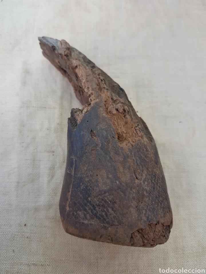 Militaria: Cacha de madera de antiguo revolver o garrucha - Foto 2 - 202874697