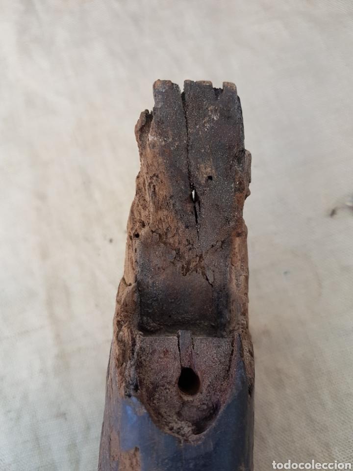 Militaria: Cacha de madera de antiguo revolver o garrucha - Foto 3 - 202874697