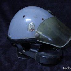 Militaria: CASCO LOS GRISES COMPLETO CON COGOTERA TRANQUISMO POLICIA ARMADA TRANSICION ESPAÑA ANTIDISTURBIOS. Lote 204485233