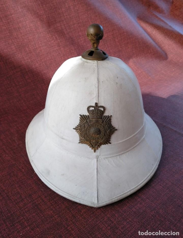 SALACOT DEL ROYAL MARINE CORPS, BRITÁNICO. (Militar - Cascos Militares )