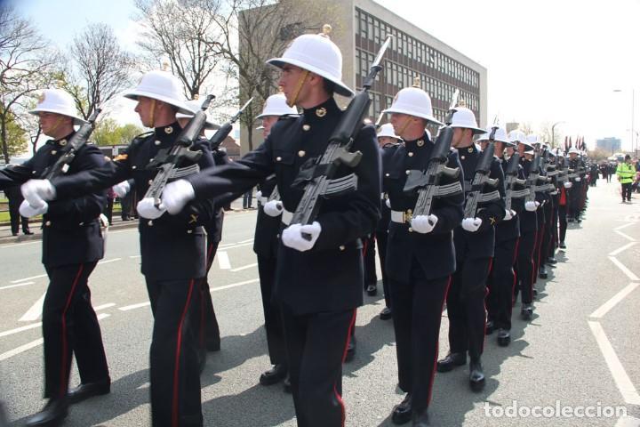 Militaria: SALACOT DEL ROYAL MARINE CORPS, BRITÁNICO. - Foto 14 - 206367813