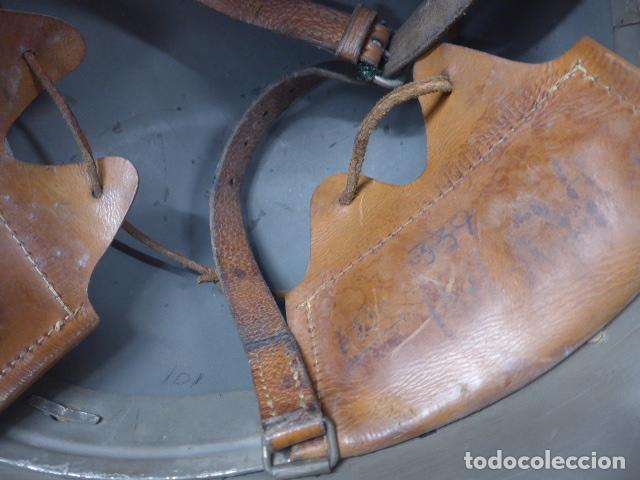 Militaria: Antiguo casco sueco modelo 1921 con doble calca, original, suecia. Completo. - Foto 7 - 206586231