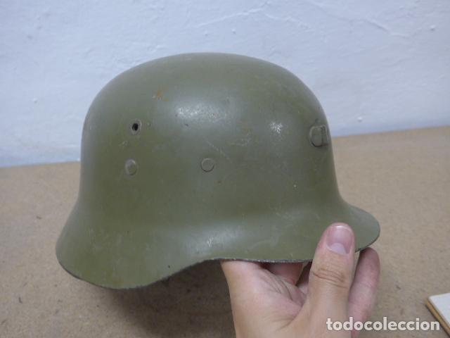 Militaria: Antiguo casco español modelo z42-79, original. z-42 - Foto 3 - 206586558