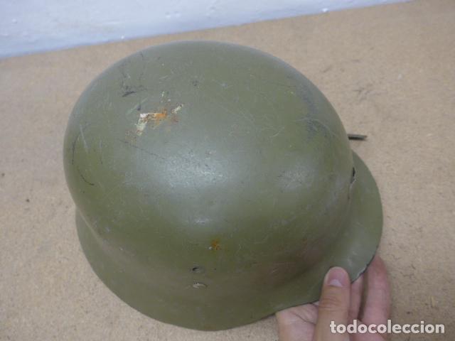 Militaria: Antiguo casco español modelo z42-79, original. z-42 - Foto 5 - 206586558