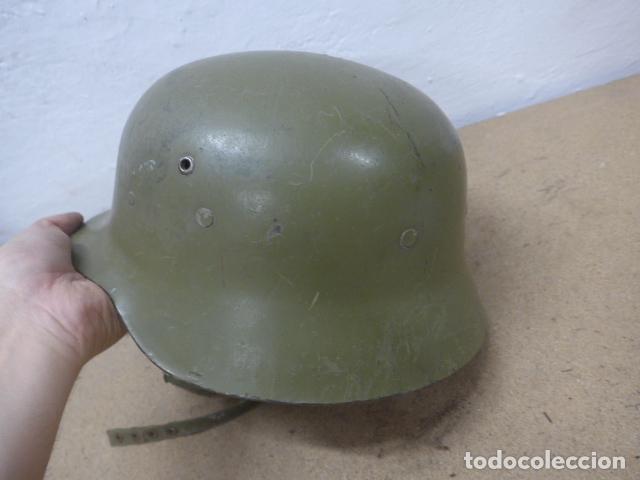 Militaria: Antiguo casco español modelo z42-79, original. z-42 - Foto 6 - 206586558