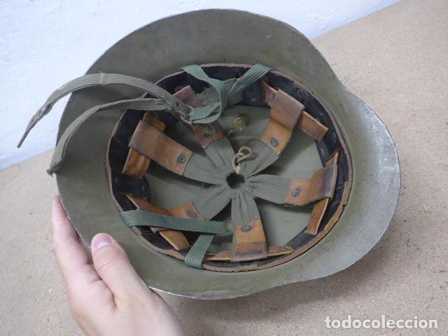 Militaria: Antiguo casco español modelo z42-79, original. z-42 - Foto 7 - 206586558