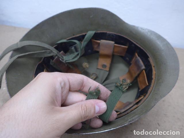 Militaria: Antiguo casco español modelo z42-79, original. z-42 - Foto 8 - 206586558