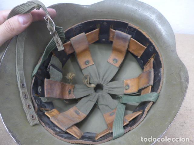 Militaria: Antiguo casco español modelo z42-79, original. z-42 - Foto 9 - 206586558