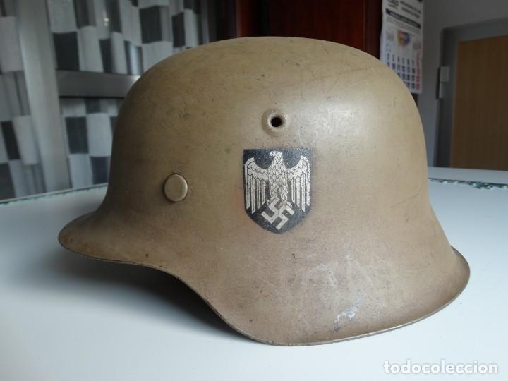CASCO ALEMAN DEL AFRIKA KORPS (Militar - Cascos Militares )