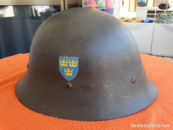 Militaria: CASCO SUECO DOBLE CALCA - Foto 1 - 206829318