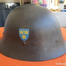 Militaria: CASCO SUECO DOBLE CALCA. Lote 206829318