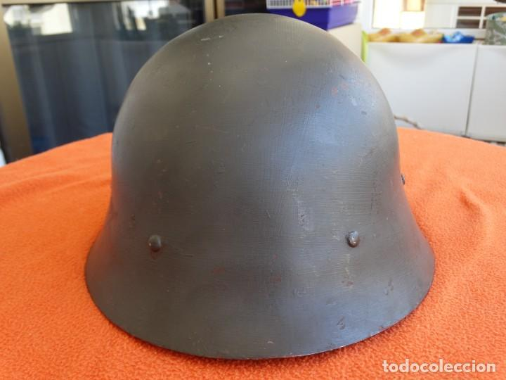 Militaria: CASCO SUECO DOBLE CALCA - Foto 2 - 206829318