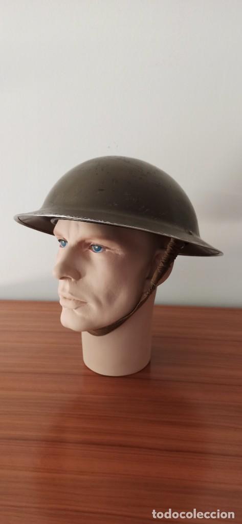 Militaria: Casco original y completo usado en la WWII por el Ejercito Inglés Tommy Modelo MKII - Foto 3 - 206916521