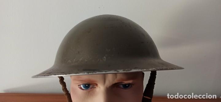 Militaria: Casco original y completo usado en la WWII por el Ejercito Inglés Tommy Modelo MKII - Foto 5 - 206916521