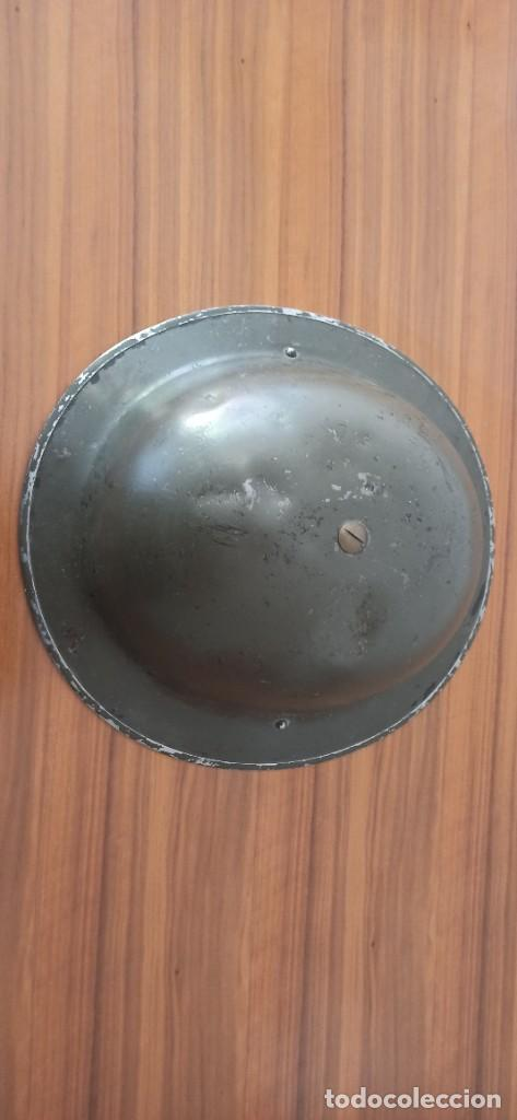 Militaria: Casco original y completo usado en la WWII por el Ejercito Inglés Tommy Modelo MKII - Foto 7 - 206916521