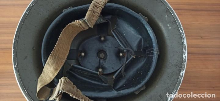 Militaria: Casco original y completo usado en la WWII por el Ejercito Inglés Tommy Modelo MKII - Foto 9 - 206916521
