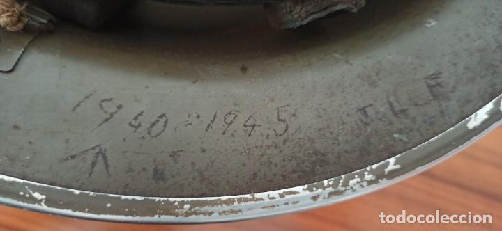 Militaria: Casco original y completo usado en la WWII por el Ejercito Inglés Tommy Modelo MKII - Foto 11 - 206916521
