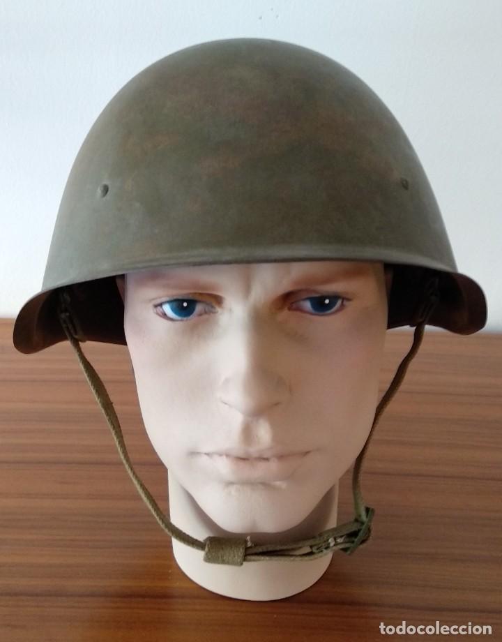 Militaria: Original casco de la antigua Unión Soviética URSS modelo 40 IIGM 2aGM Stalnoy Shelm 40 CIII40 - Foto 5 - 206919581